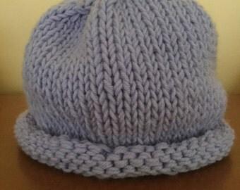 Pastel purple roll brim hat