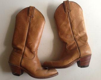 Vintage cowboy boots / Justin cowboy boots/ Women's cowboy boots