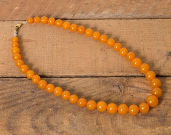 50s Orange Beaded Necklace