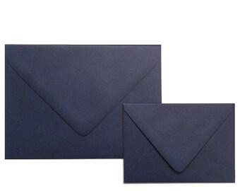 NAVY A1 Envelopes -  Euro Flap