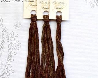 Bonbon - hand dyed SILK thread for cross stitch, embroidery work. Nina' Silk Threads