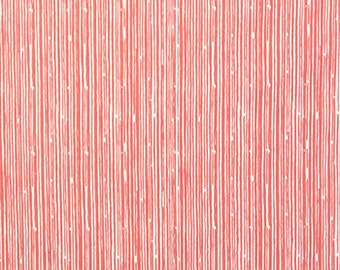 "Coral Scribble Crib Skirt 17"" Drop 