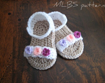 Baby sandals crochet pattern Photo Tutorial US terminology Instant Download Nr.27