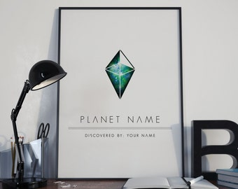 No Man's Sky Game - Planet Poster