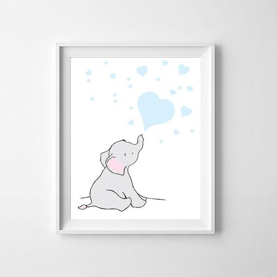 Elephant Printable Nursery Wall Artelephant Printable