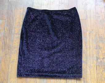 black stardust sparkle tube skirt