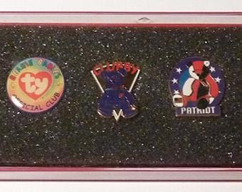ty Pins - Vintage Set of Five Pins
