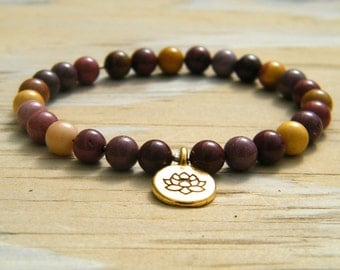 Australian Mookaite Pocket Mala - 27 Bead Travel Mala - Gemstone Mala - Mini Mookaite Mala