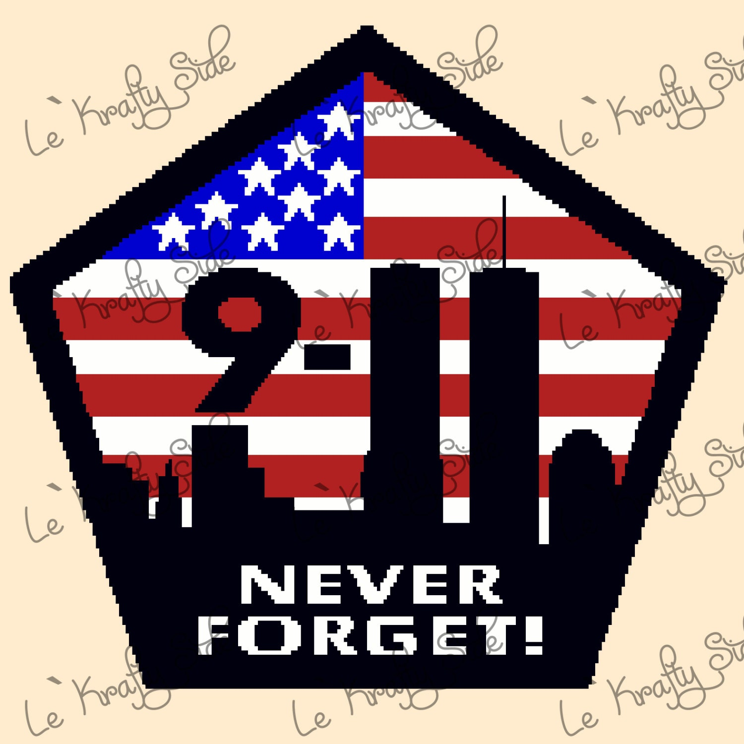 Instant Download Never Forget 9 11 Twin Towers Ny Usa