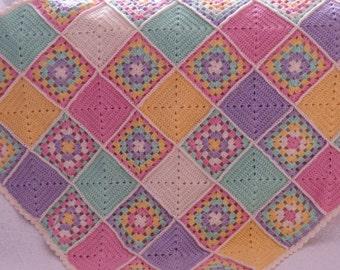 Baby crochet blanket, Granny squares