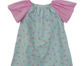 Dress, Baby & Girls sz, Peasant dress, from 3mth to 5 yrs