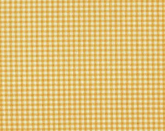 "90"" Round Tablecloth, Yellow Gingham Check"