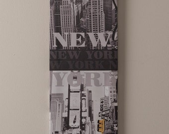 Set of 5 canvases depicting key New York scenes