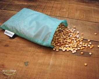 Reusable bulk food bag, reusable grocery bag, ripstop nylon, size small BLUE
