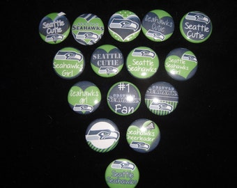 Seattle Seahawks Cutie Buttons Set of 15