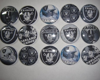 Raiders Buttons Set of 15
