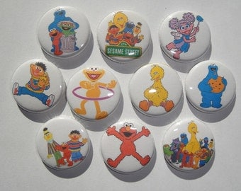 Sesame Street Buttons Set of 20 - 2 of Each