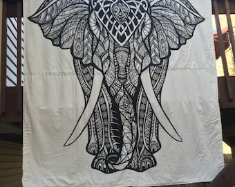 Free shipping,Indian Elephant quilt