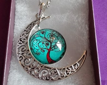 tree of life glass pendant and necklace.