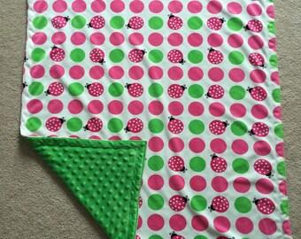 Ladybug Minky Blanket