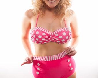 "Signed Print of Wendy Lee by Brian Brown, ""Pink Polka Dot."""