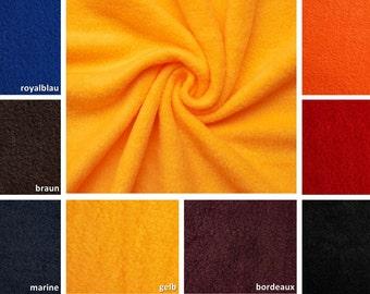 Thermo fleece micro fleece fabric - 8 colours - 0, 5m