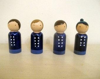 The Monkees Peg Doll set