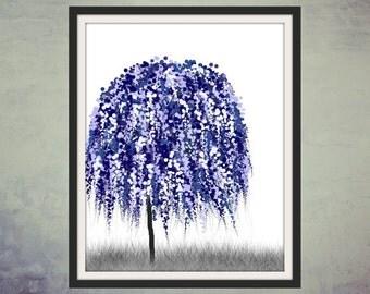 Blue Willow Tree