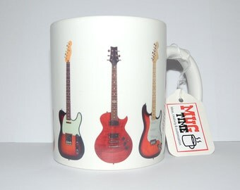 Guitars Mug - 11oz Ceramic Coffee Cup Mug