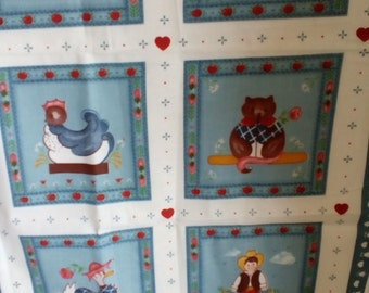 Vintage Panel 128 country panels with people and animals. FREE SHIPPING