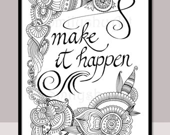 HOPE, Printable Motivational Quotes, Christmas Quotes Coloring ...