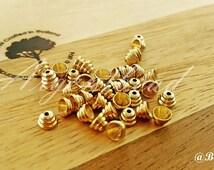 40pcs 5X3mm  Raw Brass Bead Cap  Cone shape  bead cap AG000059