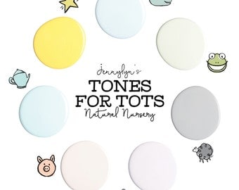 Jennylyn's Tones for Tots Natural Nursery collection  Fusion Mineral Paint - Certified 0 VOC -   500 ml or Tester size -