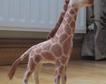 Hand sewn giraffe plush