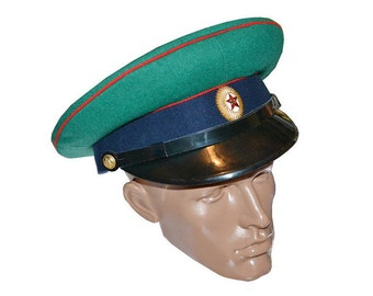 Russian / Soviet Army Frontier Guards Sergeant visor cap  border troops cap