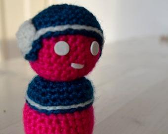 Pink Robot figurine, Lavander bag