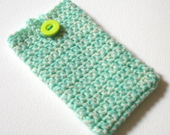 iPhone 6 Cosy in Mint Cream Marl - Phone Case, Sock, Cozy - Fashion Accessories - Gadget case - Cell Phone Case for Her Birthday, Sister