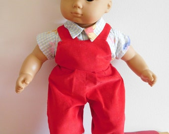Bitty baby overalls and blouse
