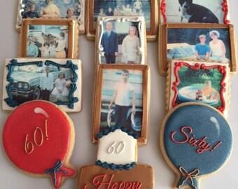 Memory Lane Birthday Photo Cookies