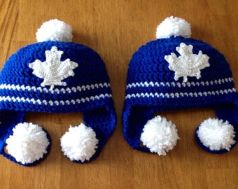 Crochet Toronto Maple Leafs Hat
