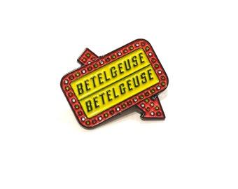 Beetlejuice Betelgeuse Enamel Pin