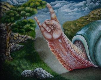 Rock snail print