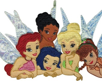 Disney Tinkerbell and Friends Embroidered Iron On Applique