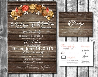Wedding Invitation Printable Rustic#1