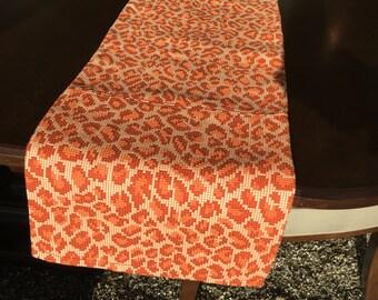 Animal print orange runner