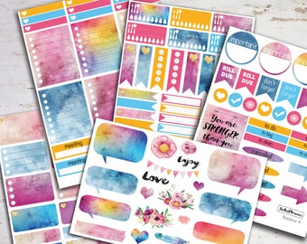 Erin Condren vertical, Planner stickers planner sticker kit Erin Condren planner stickers weekly sticker kit monthly stickers eclp rainbow