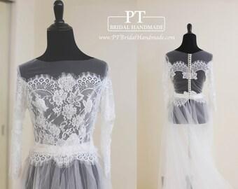 Wedding Dress Topper, Bridal Lace Top, Wedding Lace Top, Bolero Top, Bridal Lace Cover Up , Custom Lace Bolero