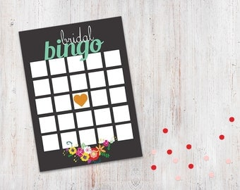 Bridal Shower Game -  Folksy Floral Bingo {Download + Print}