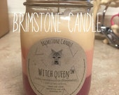 Pint Jar Witch Queen Scented Natural Soy Candle