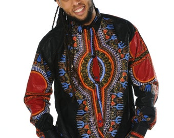 African Shirt - African Fashion Mens - Dashiki Top - African Clothing - Dashiki Shirt - Festival Shirt - Dashiki - Wax Shirt